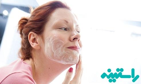 شستشوی پوست چرب با صابون