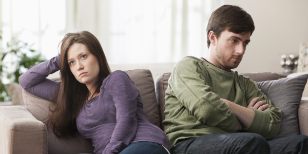 زن و شوهر ناراحت