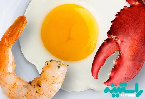 کلسترول در غذاها