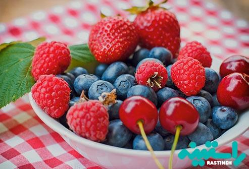 انواع توت ها و گیلاس ها