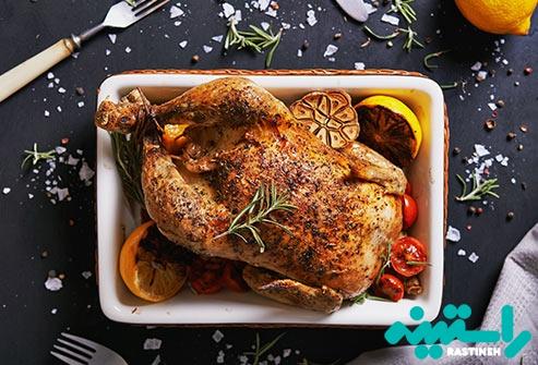 گوشت قرمز بدون چربی و گوشت مرغ