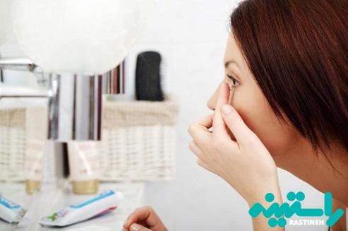 عفونت ناشی از لنز چشم