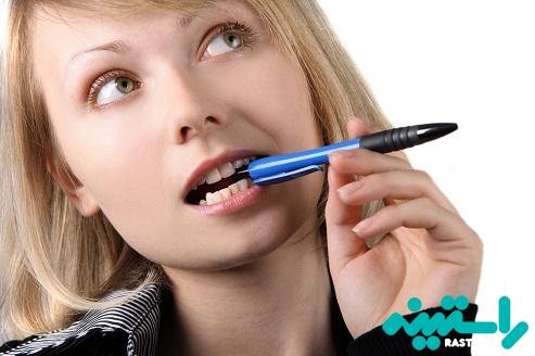 جویدن مداد