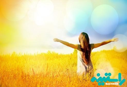 نور آفتاب برای ویتامین d