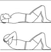 crunches 165x168 تمریناتی برای رابطه جنسی بهتر