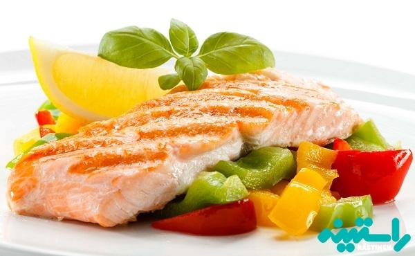 تأثیر ماهی و میوه و سبزیجات