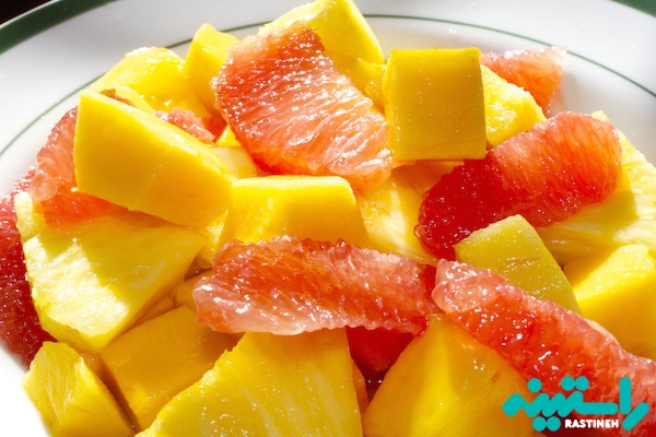 آناناس، انبه و پرتقال