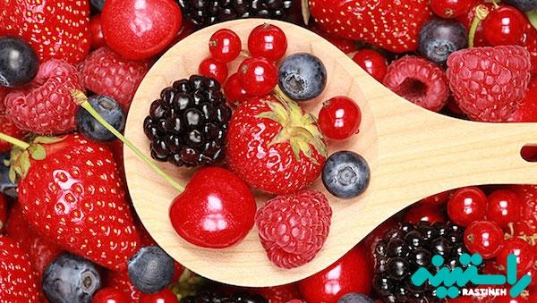 میوه های قرمز رنگ