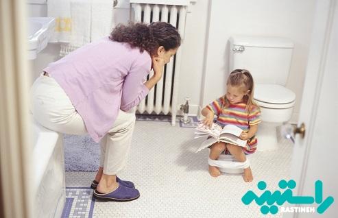 توالت بردن کودک