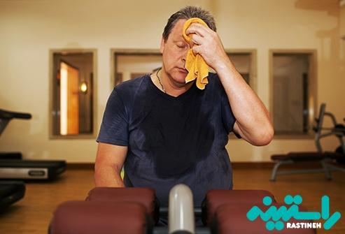 عرق کردن ناشی از فعالیت و ورزش