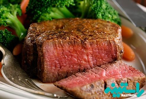 گوشت گاو کم چرب