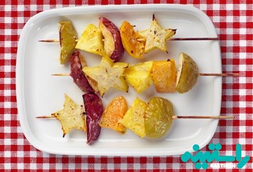 میوه های کبابی