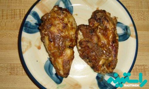 مرغ کبابی با بادام زمینی