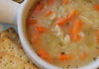 سوپ سبزیجات و مرغ