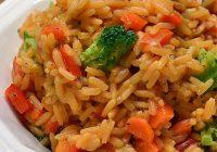 برنج زرد با سبزیجات