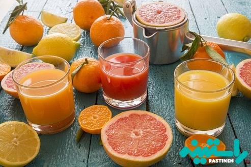 آب پرتقال و گریپ فروت