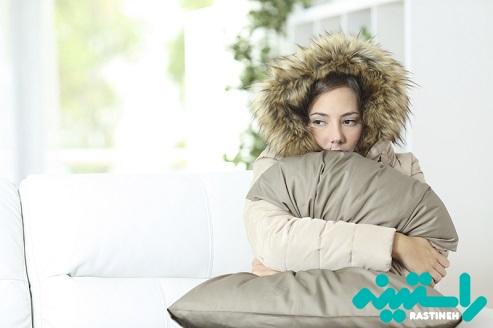 احساس سرما ، افسردگی و اضطراب