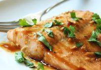 ماهی سالمون با شیره افرا