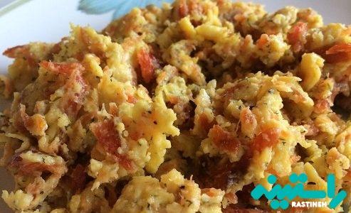 کنسرو گوشت و تخم مرغ