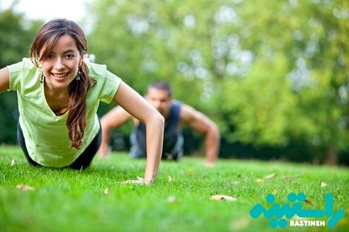 انجام تمرین های ورزشی