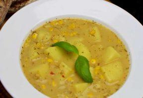 سوپ لیمو و سیب زمینی