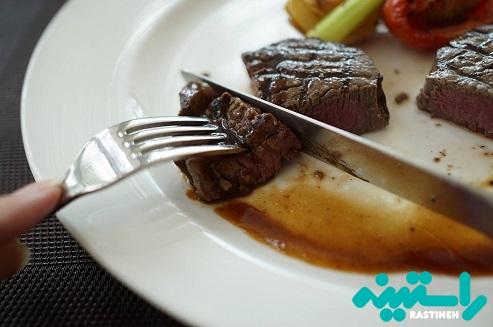 کمتر از حد مطلوب گوشت مصرف می کنید