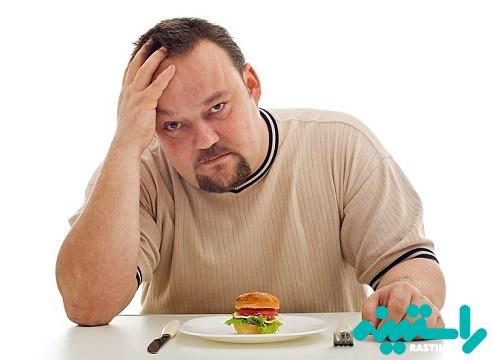 به اندازه کافی غذا نخوردن