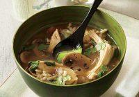 سوپ برنج و مرغ