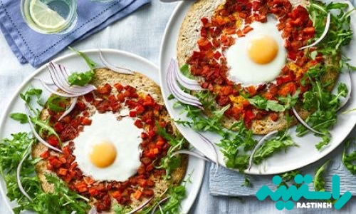 پیتزای تخممرغ و مِنداب