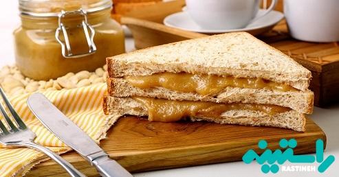ساندویچ کرهی بادام زمینی