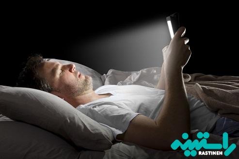 استفاده بیش از حد از نور آبی در اتاق خواب