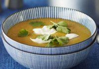 سوپ عدس، هویج وحشی و سیب