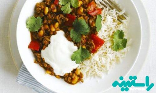 خوراک لوبیای مکزیکی