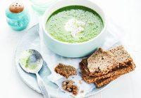 سوپ خیار، نخودفرنگی و کاهو