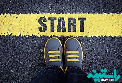 فقط برنامه را شروع کنید!