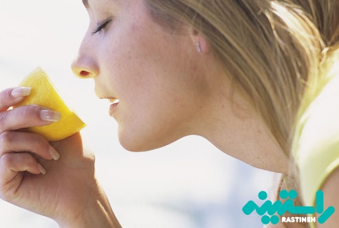 بو کردن لیمو