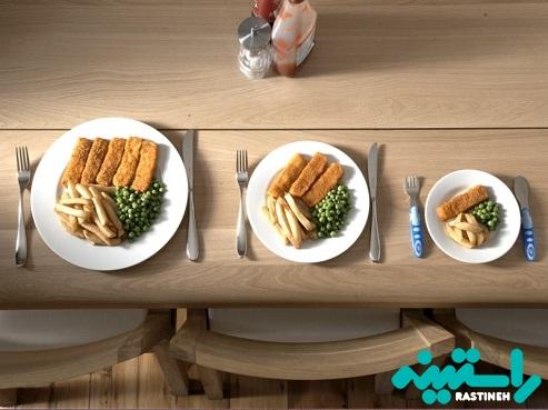 از ظروف کوچک تر استفاده کنید