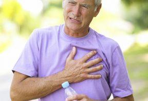 انقباض یا درد در قفسه سینه یا شانه ها