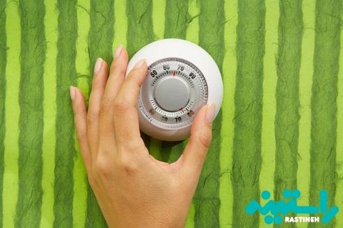 کاهش درجه حرارت