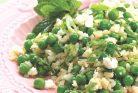 نخود فرنگی و برنج نعنایی با فتا