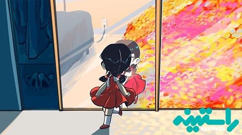 نگاه کردن دختر در آینه