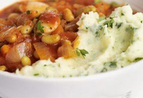 خوراک سامرست با پوره جعفری و چدار