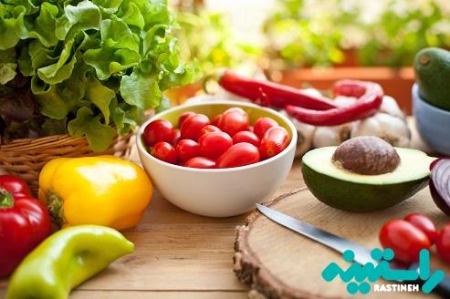 رژیم غذایی حاوی مقدار زیادی میوه و سبزیجات