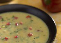 سوپ ذرت تازه و فلفل قرمز