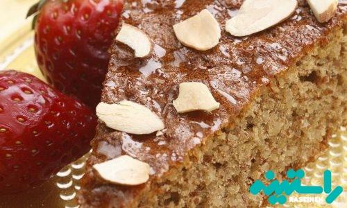 کیک عسل و بادام بدون آرد