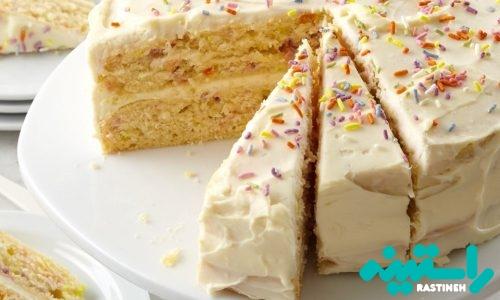 کیک تولد کانفتی (رنگین کمان)