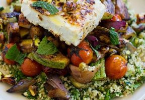 تبوله با سبزیجات کبابی