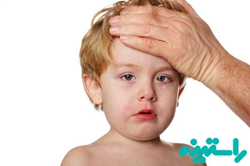 کودکان مبتلا به زکام