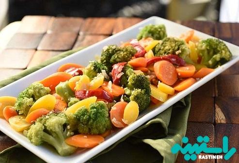 سبزیجات برای شام
